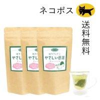 ネコポス送料無料!3袋セット【低カフェイン煎茶】 やさしい煎茶ティーバッグ  2g×15ケ