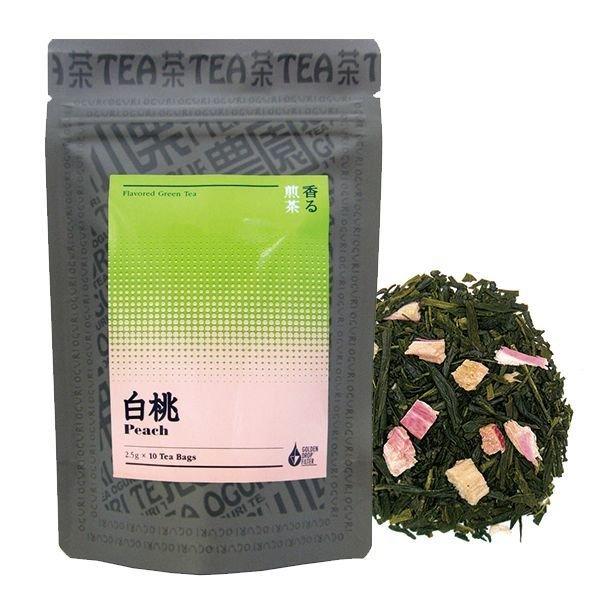 画像1: 香る煎茶 白桃
